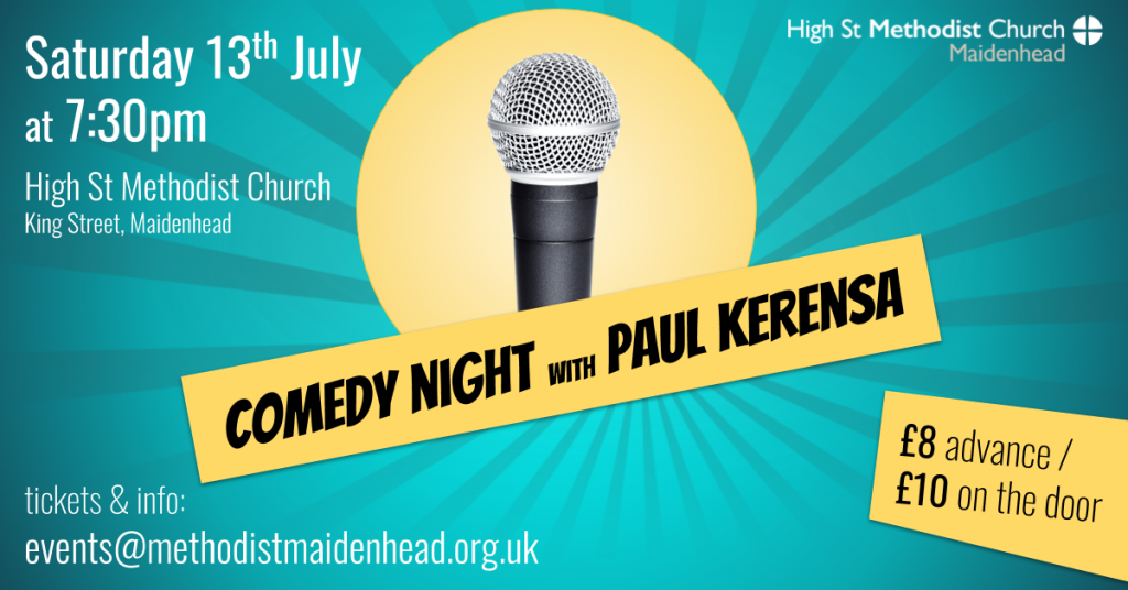 Comedy night with Paul Kerensa, 7:30pm on 13th July 2019