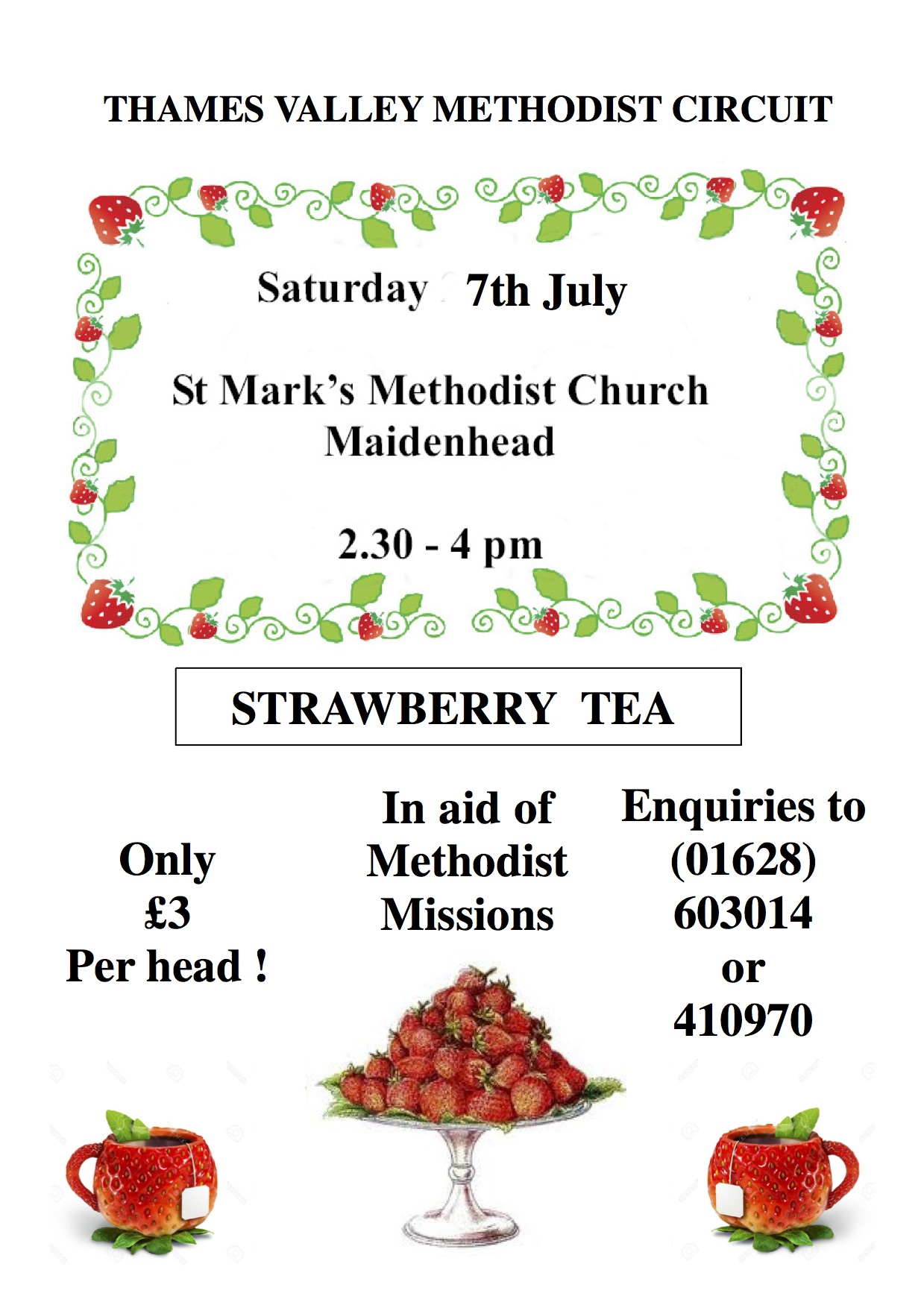 St Mark's Strawberry Tea 7th July 2018